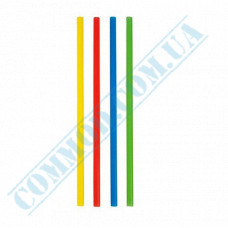 Cocktail straws   plastic   not flexible   Ǿ=7mm L=210mm   colored   500 pieces per pack