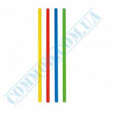 Plastic milkshake straws Ǿ=6,8mm L=21cm without corrugation colored 500 pieces per pack