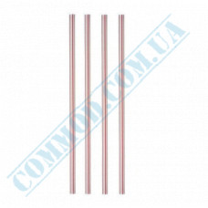 Plastic milkshake straws Ǿ=6,8mm L=21cm without corrugation striped 500 pieces per pack
