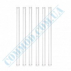 Cocktail straws   plastic   not flexible   Ǿ=7mm L=210mm   Crystal   500 pieces per pack