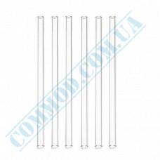 Plastic milkshake straws Ǿ=6,8mm L=21cm without corrugation transparent 500 pieces per pack