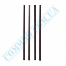 Plastic milkshake straws Ǿ=6,8mm L=21cm without corrugation black 500 pieces per pack