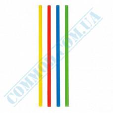 Fresh straws   plastic   not flexible   Ǿ=8mm L=250mm   colored   500 pieces per pack