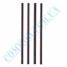 Fresh straws   plastic   not flexible   Ǿ=8mm L=250mm   black   500 pieces per pack