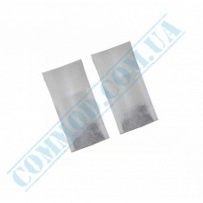 Filter bags paper 55*95*30mm white for brewing tea in a cup 100 pieces per pack in a polyethylene package