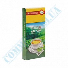 Paper filter bags 55*95*30mm white for brewing tea in a cup 100 pieces per pack in a carton box