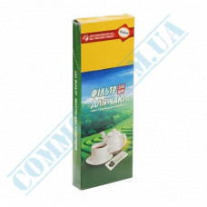 Paper filter bags 55*150*30mm white for brewing tea in a teapot 100 pieces per pack in a carton box