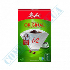 White paper filter bags №2 for brewing coffee 40 pieces per pack in a carton box