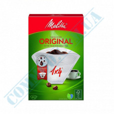 White paper filter bags №4 for brewing coffee 40 pieces per pack in a carton box