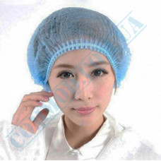 Berets caps non-woven spunbond blue 100 pieces