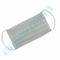 Medical protective masks three-layer white spunbond 100 pieces in a polyethylene package
