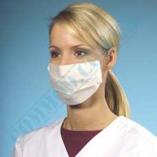 Medical protective masks three-layer white spunbond 100 pieces certified