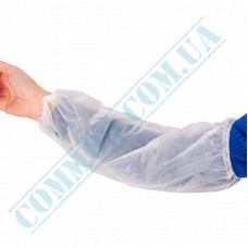 Seamless white polyethylene oversleeves 100 pieces per pack