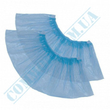 Shoe covers polyethylene   weight 2g   19μm   blue   100 pieces 50 pairs per pack
