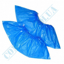Shoe covers, polyethylene   weight 4g   30μm   blue   100 pieces 50 pairs per pack