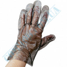 Black polyethylene gloves 100 pieces in a polyethylene package