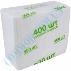 Paper bar napkins 22*22cm single-layer white 400 pieces per pack