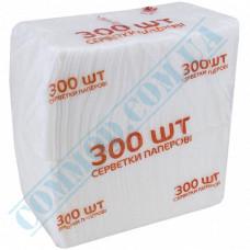 Paper bar napkins 22*22cm single-layer white 300 pieces per pack