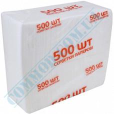 Paper bar napkins 22*22cm single-layer white 500 pieces per pack