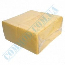 Paper bar napkins 24*24cm single-layer yellow 500 pieces per pack