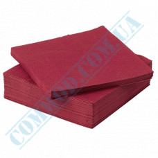 Paper napkins 33*33cm 2-ply burgundy 200 pieces per pack