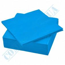 Paper napkins 33*33cm 2-ply light blue 200 pieces per pack