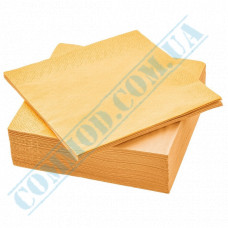Paper napkins 33*33cm 2-ply yellow 200 pieces per pack