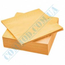 Paper napkins 33*33cm 2-ply yellow 200 pieces