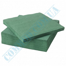 Paper napkins 33*33cm 2-ply green 200 pieces per pack