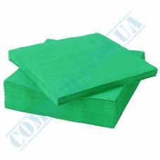 Paper napkins 33*33cm 2-ply light green 200 pieces