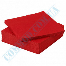Paper napkins 24*24cm 3-ply red 500 pieces per pack