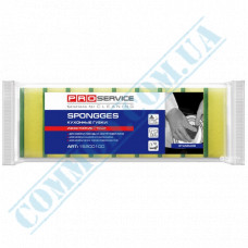 Sponges for dishes 100*70*30mm yellow 10 pieces per pack Standard PRO Service