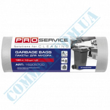 Garbage bags 120L polyethylene LD 32mkm White 10 pieces per roll PRO Service