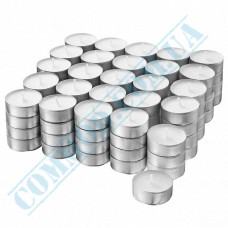 Tea candles Ǿ=39mm h=17mm white 100 pieces in a metal case