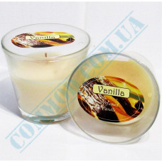 Candle with Vanilla aroma in a glass beaker - 785g, Ǿ=120mm h=110mm, burning time 41 hours