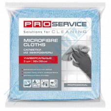Napkins 38*38cm microfiber universal colored 3 pieces PRO Service