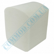 Toilet paper in sheets 110*220mm white single-layer 250 pieces per pack (Ukraine)