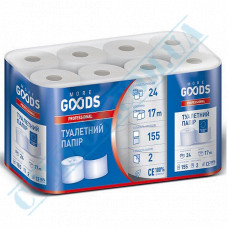 Toilet paper 17m white 2-ply 24 rolls per pack More Goods Professional