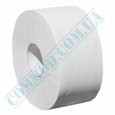 Toilet paper Jumbo single-layer white 120m (outer diameter Ǿ=170mm, number of tear-off sheets - 1000 pieces)