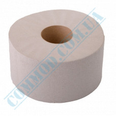 Toilet paper Jumbo single-layer gray 120m (outer diameter Ǿ=190mm, number of tear-off sheets - 1000 pieces)