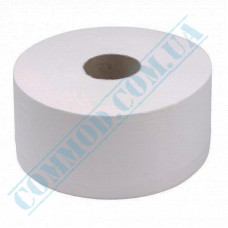 Toilet paper Jumbo 2-ply white 100m (outer diameter Ǿ=190mm, number of tear-off sheets - 830 pieces, with embossing)