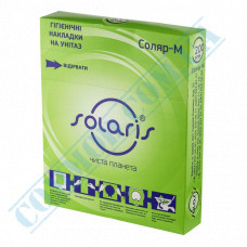 Hygienic toilet pads 1/4 fold white 200 pieces per pack article Solyar-M