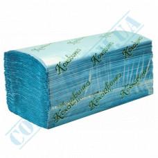 Single-layer sheet paper towels 25*23cm blue V-stacking 200 sheets