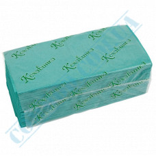 Single-layer paper towels 25*23cm green V-stacking 200 sheets