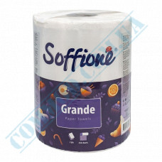 Paper towel in a roll 77m 2-layer white Grande Soffione