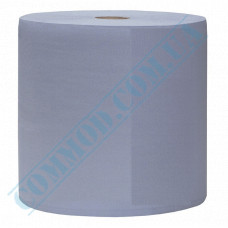 Paper towel in a roll 300m Ǿ=270mm h=280mm single-layer industrial wiping Blue
