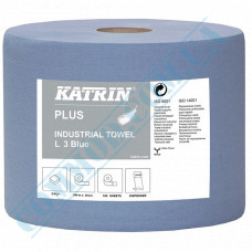 Paper towel in a roll 350m Ǿ=265mm h=260mm 2-ply industrial wiping Blue Katrin (Finland) article 447226