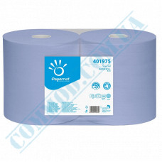 Paper towel in a roll 360m Ǿ=350mm h=380mm 2-ply industrial wiping Blue Papernet (Germany) article 401975