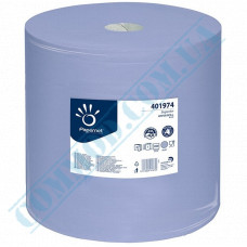 Paper towel in a roll 360m Ǿ=380mm h=376mm 3-ply industrial wiping Blue Papernet (Germany) article 401974