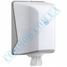 Dispenser for rolled paper towels with internal unwinding, plastic article OG.1
